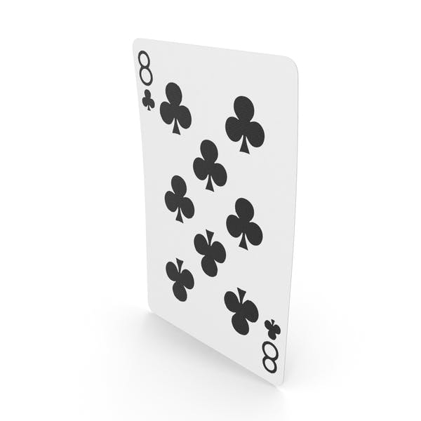 Playing Cards 8 Clubs