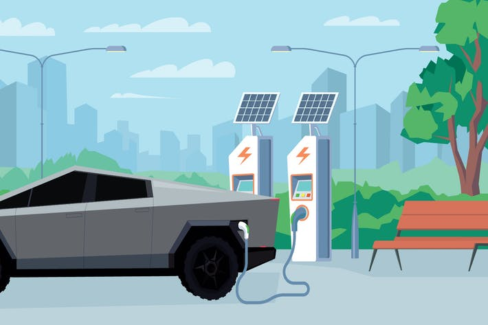 Thumbnail for Electric Refueling - Illustration Background