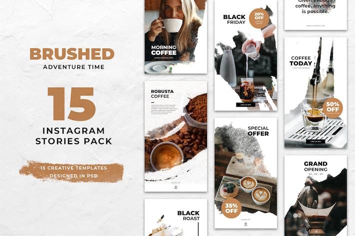 Thumbnail for Coffee Brush Instagram Stories