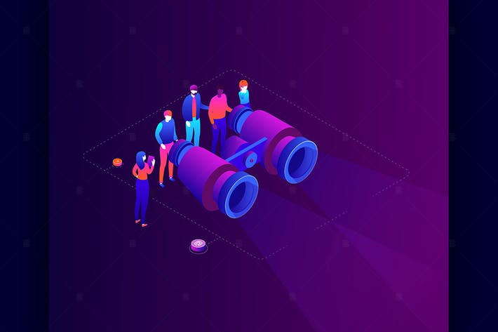 Thumbnail for Business strategy - isometric illustration
