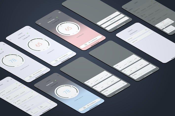 Temperatur - Smarthome Mobile UI - FP