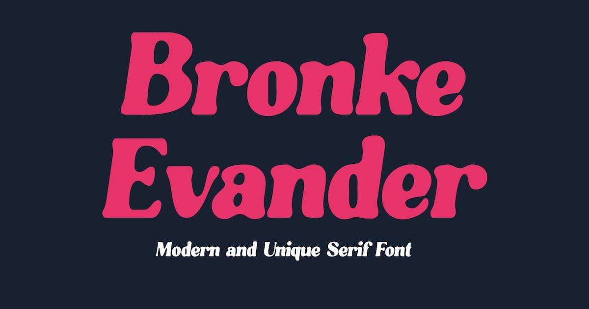 Download Bronke Evander - Stylish Serif Font by Kulokale