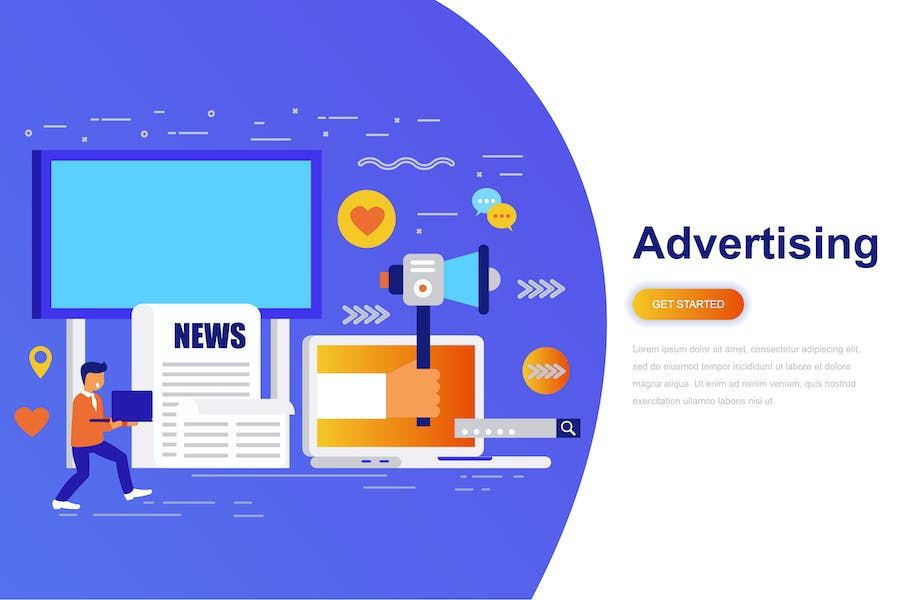 Advertising and Promo Modern Flat Concept