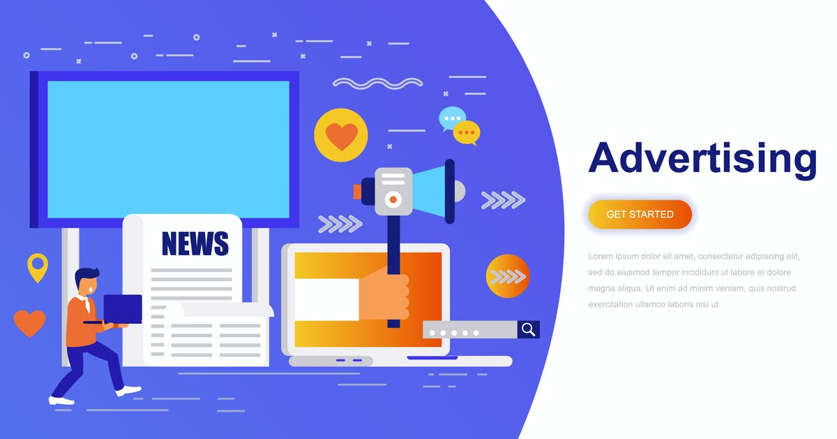 Download Advertising and Promo Modern Flat Concept by alexdndz