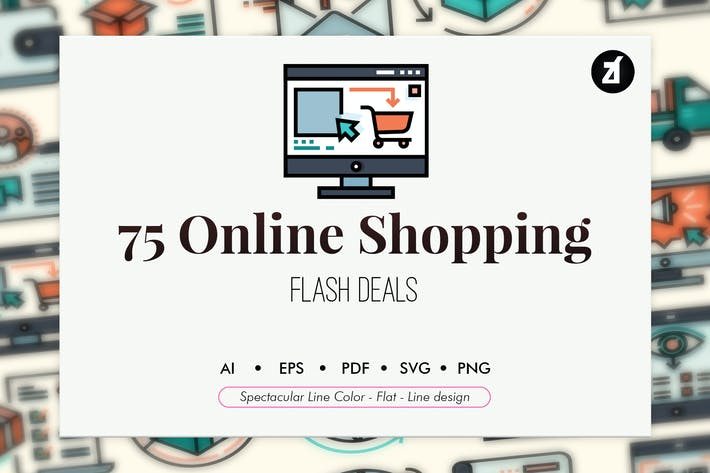 Thumbnail for 75 Online shopping elements
