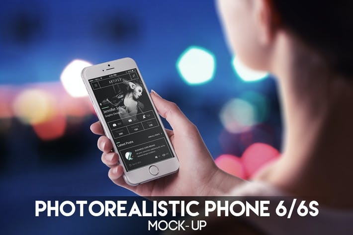 Thumbnail for Fotorealistisches Telefon 6 Mock-Up