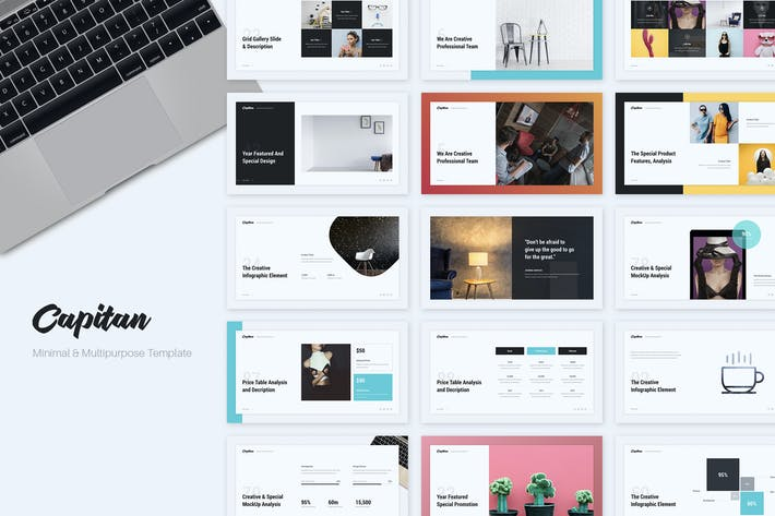 capitan minimal creative presentation template by simplesmart on