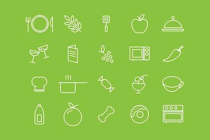 Food White Icons