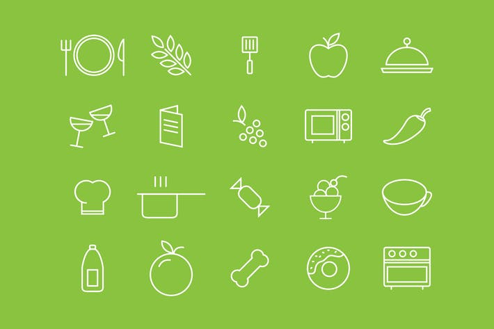 Thumbnail for Food White Icons