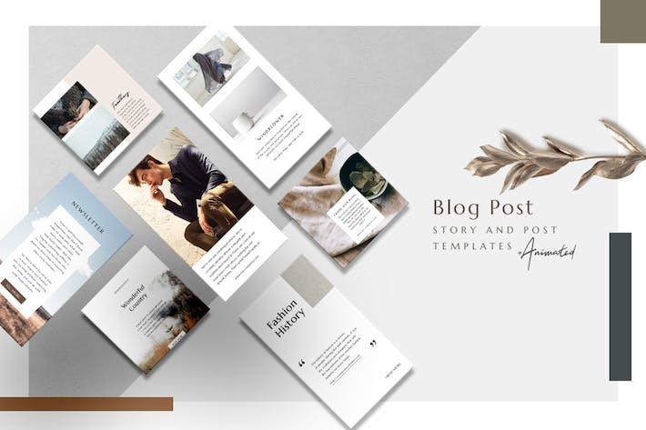 Thumbnail for Blog Post - Animated Instagram Basic Pack
