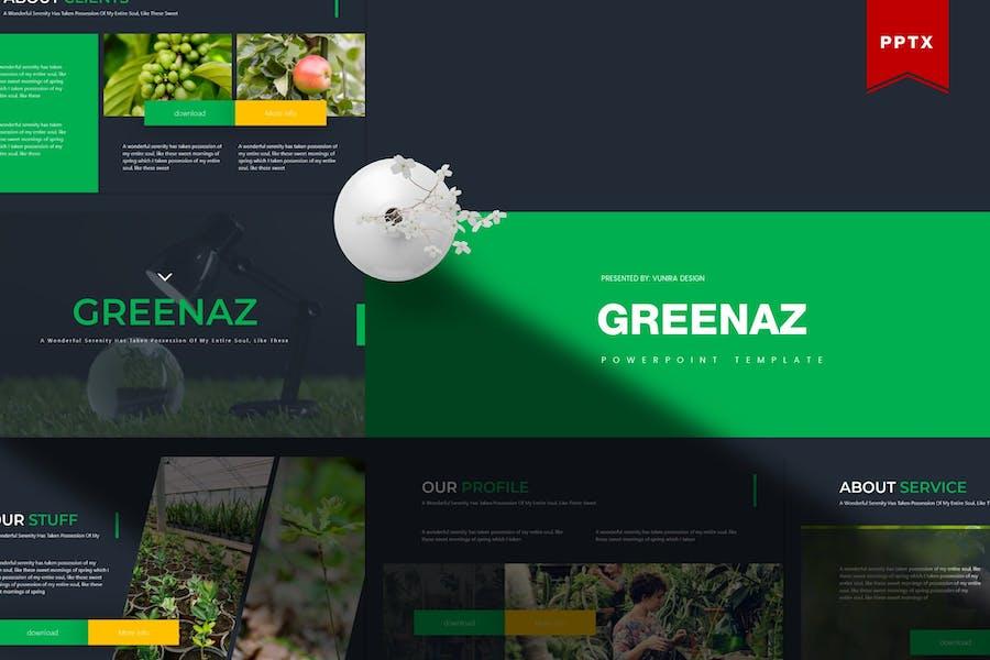 Greenaz   Powerpoint Template