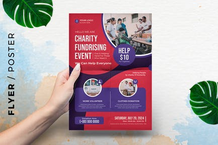 Charity Fundraising event Template Flyer / Poster