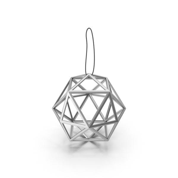 Geometric Silver Ball Decoration