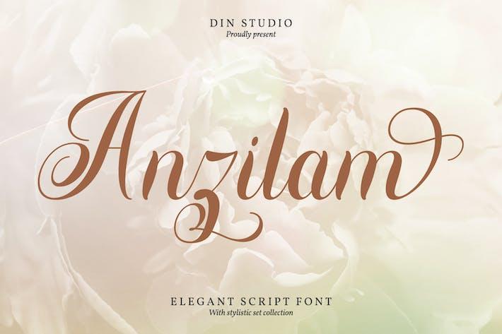 Anzilam-Elegant Calligraphy Font