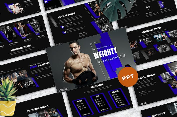 Weighty - Gym Powerpoint Templates