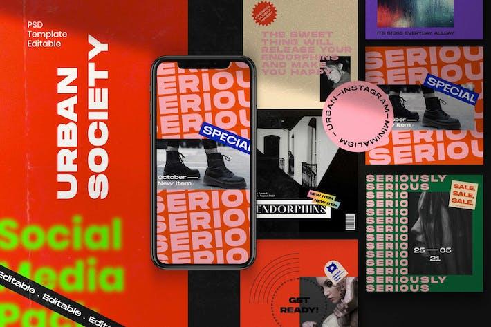 Thumbnail for Городское общество - Instagram Post & История
