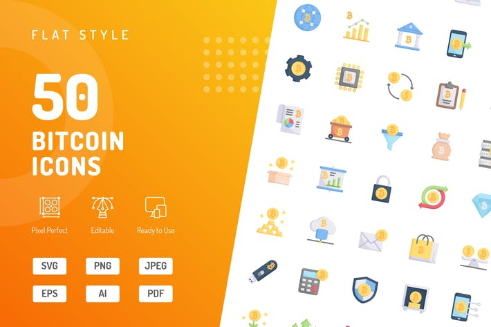Thumbnail for Bitcoin Flat Icons