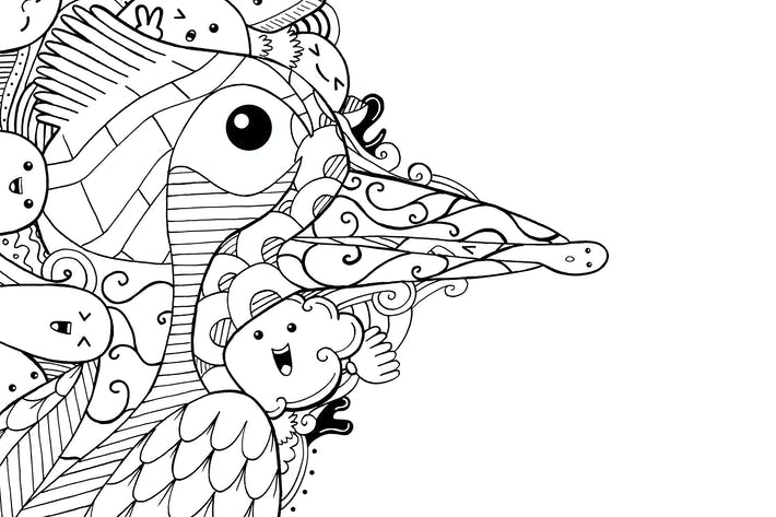 Thumbnail for Picus Bird Doodle
