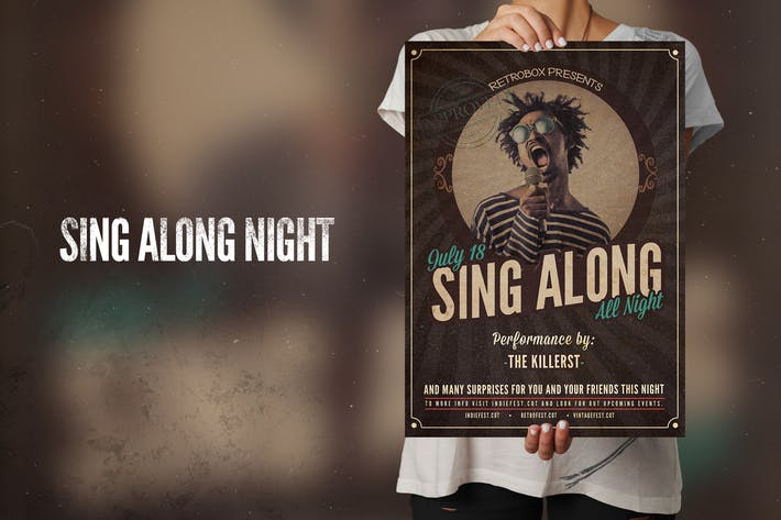 Cover Image For Sing Along Flyer Poster
