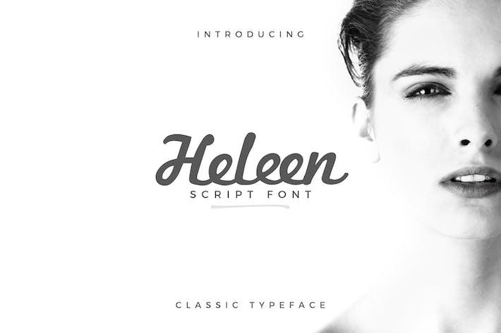 Thumbnail for Tipo de letra de guión Heleen
