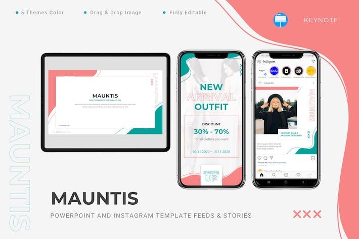 Thumbnail for Mauntis - Keynote и шаблон Instagram