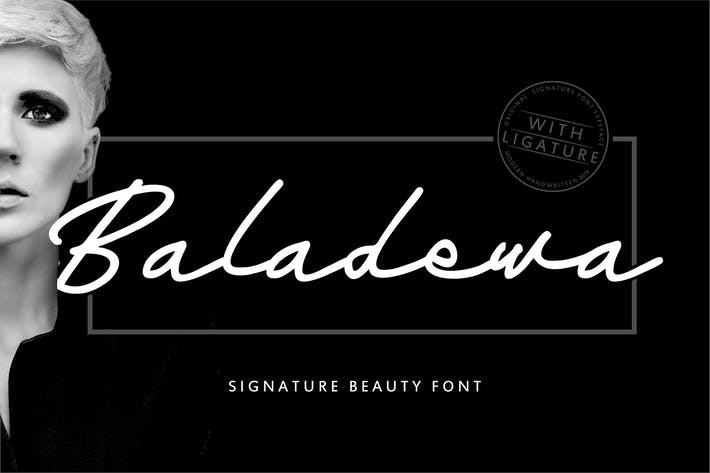 Thumbnail for Baladewa | Signature Beauty Font