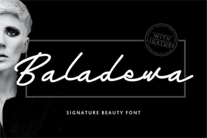 Cover Image For Baladewa | Signature Beauty Font