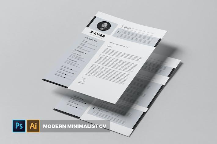 Thumbnail for Modern Minimalist   CV & Resume