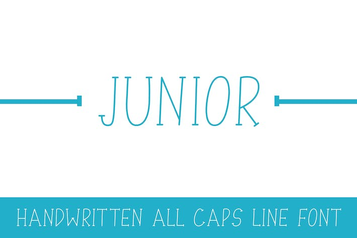 Thumbnail for Junior - Line Font