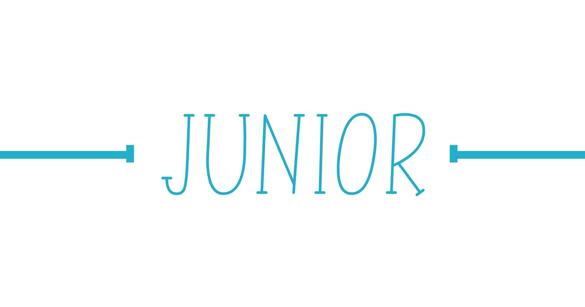 Download Junior - Line Font by Muse-Master