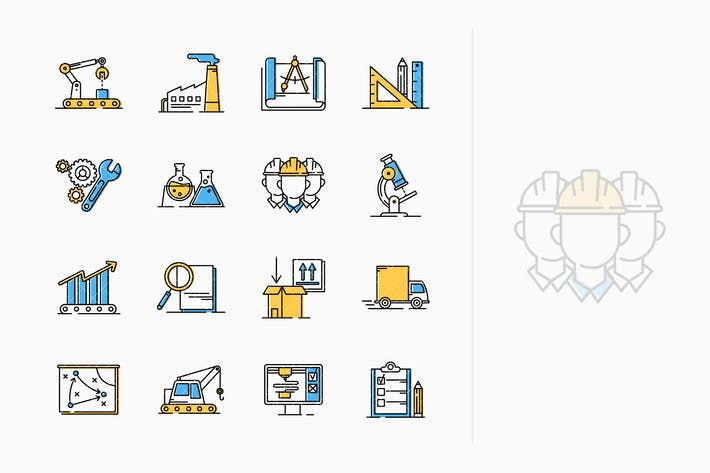 Thumbnail for Manufacturing Engineering Icons - Outline Series