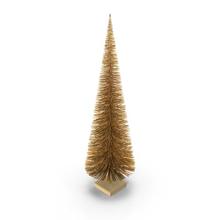 Árbol de Navidad en miniatura dorado