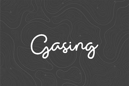 Gasing Monoline Script Font