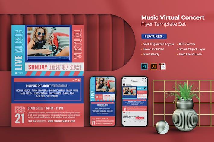 Thumbnail for Live Music Virtual Flyer - Instagram Stories