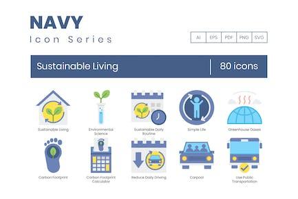 80 Nachhaltige lebende Icons - Navy Serie