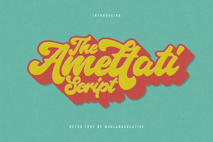 Thumbnail for Amettati Script Retro Fuente