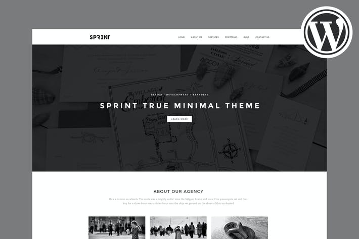 Thumbnail for Sprint - Minimal WordPress Portfolio