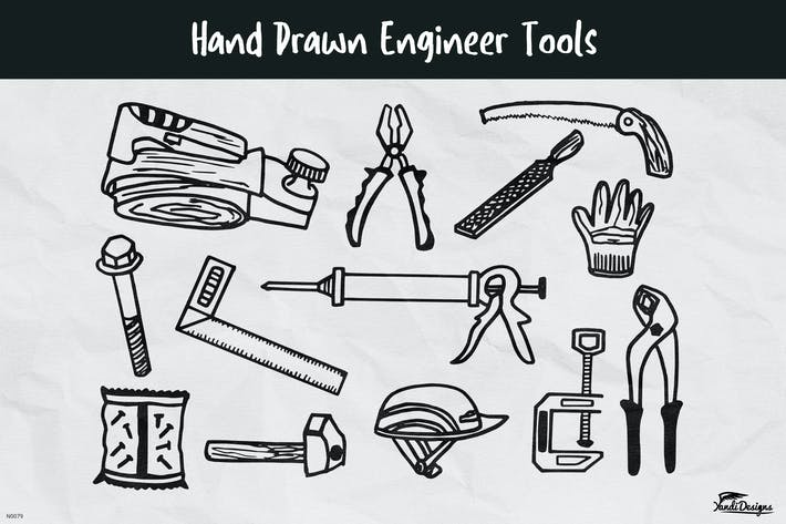 Hand Drawn Engineer Tools