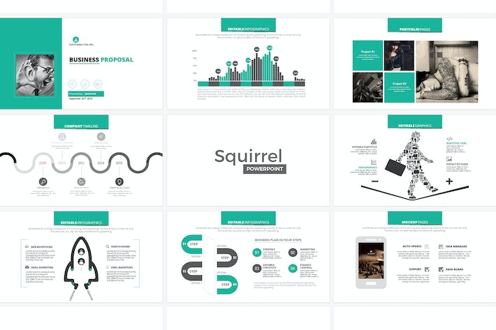 squirrel powerpoint template by graphix shiv on envato elements