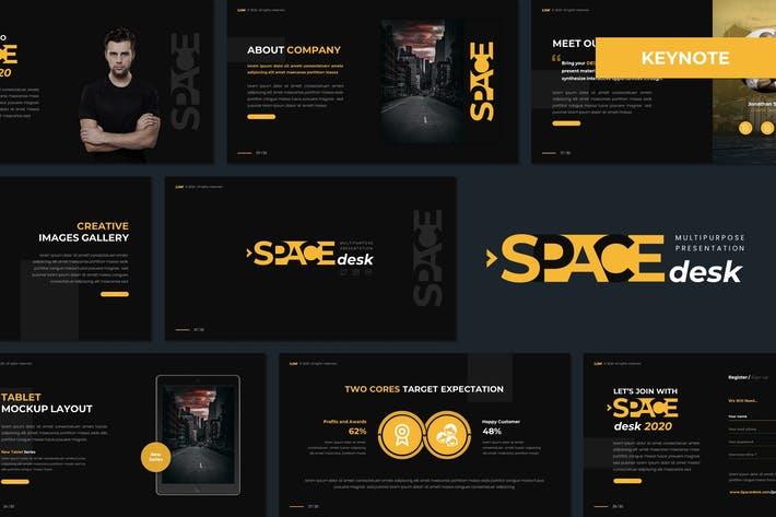 Space Desk - Многоцелевой Шаблон Keynote