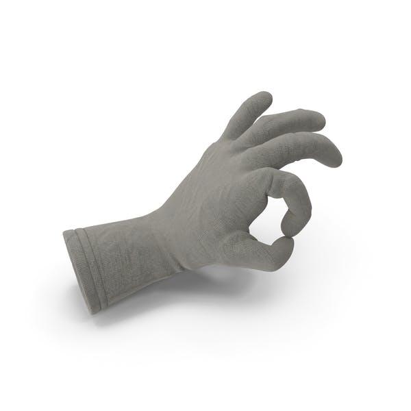 Jute Glove Ok Gesture