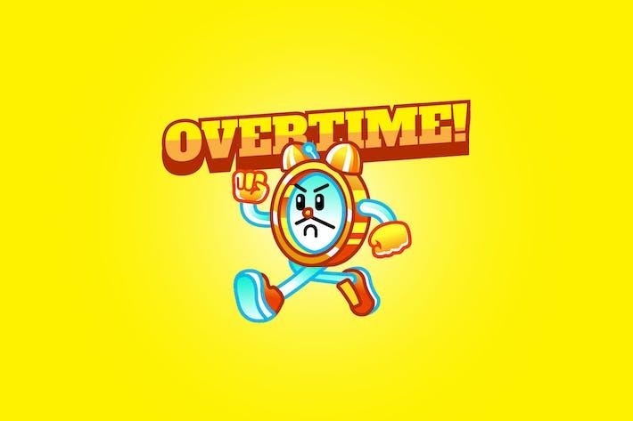 Thumbnail for overtime - Mascot Logo