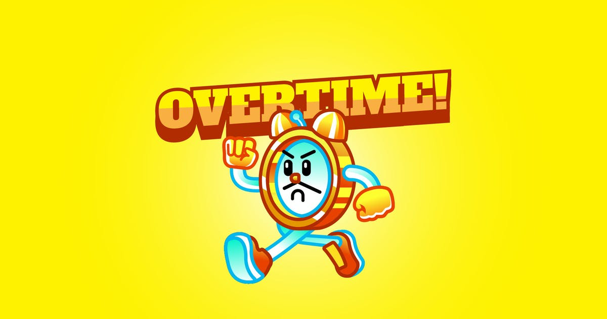 Download overtime - Mascot Logo by aqrstudio