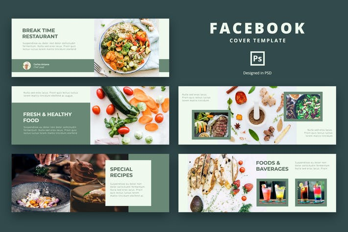 Thumbnail for Facebook Cover Template Food and Resto