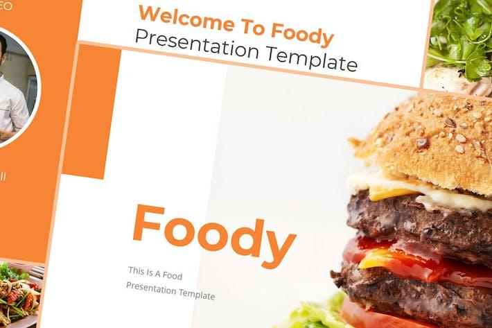 Foody — Шаблон Keynote продуктов питания