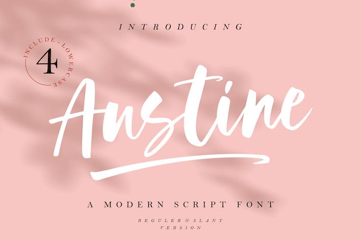 Thumbnail for Austine - A Modern Script Font MS