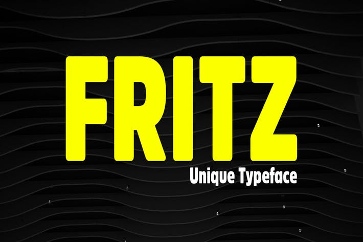 Thumbnail for Fritz - Unique & Rounded Display / Logo Typeface