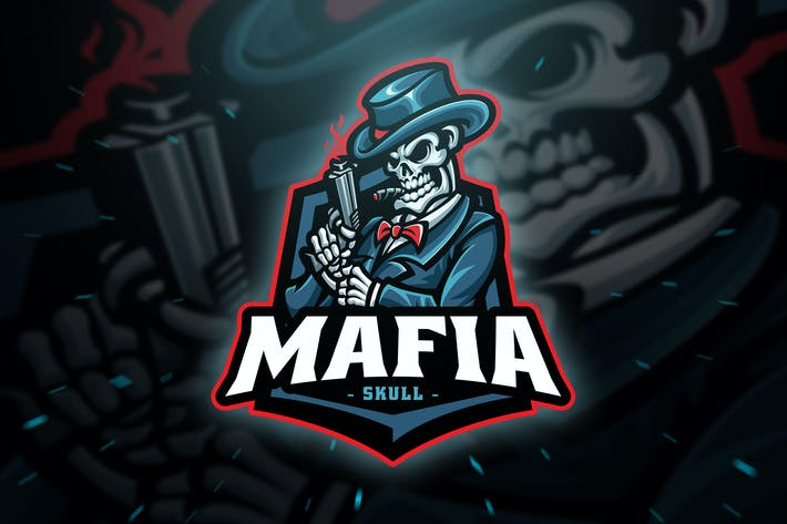 Thumbnail for Mafia Skull Sport and Esport Logo Template