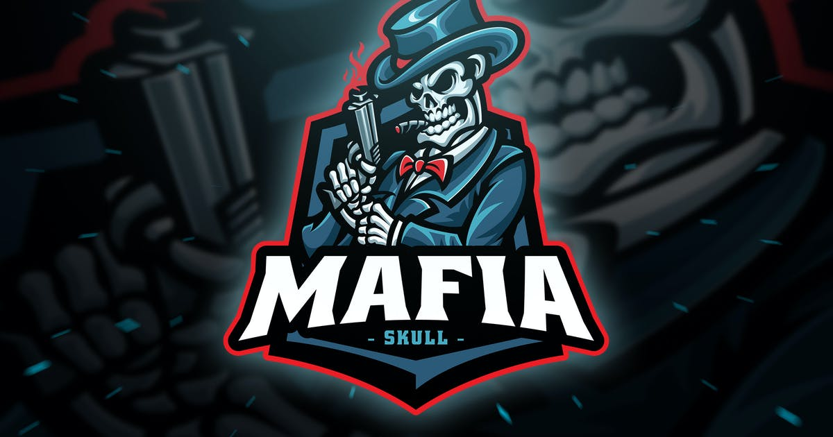 Download Mafia Skull Sport and Esport Logo Template by Blankids