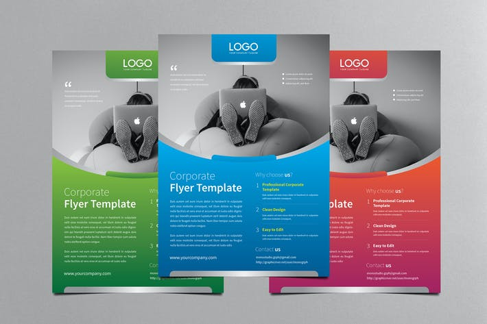Corporate Flyer Template By Monogrph On Envato Elements